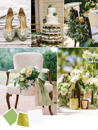 Sage + Gold + Ivory : Elegant Wedding Color Inspiration