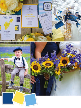 Navy + Yellow + Blue : Color Combo For A Summer Country Wedding