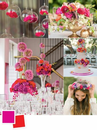 Fuchsia and Poppy Wedding Colors